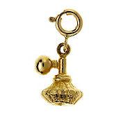 14K Yellow Gold Perfume Atomizer Charm - J105829