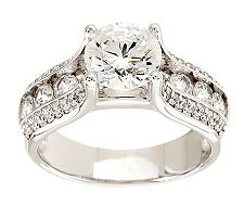 Epiphany Diamonique Bridge Style Ring