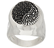 Michael Dawkins Starry Night Sterling & Pave Black Spinel Swirl Ring - J292229