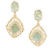 Kara Ross Goldtone Simulated Drusy Earrings - J293129