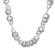 Artisan Crafted Hammered Link 20 Sterling Necklace, 39.2g - J294329