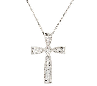 Product image of Round Baguette Diamond Cross Sterling, 1/2cttw by Affinity