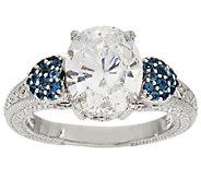 Judith Ripka Sterling & Diamonique London Blue Topaz Pave Ring - J296929