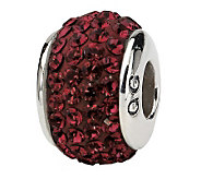 Prerogatives Sterling Crimson Full Swarovski Crystal Bead - J299629