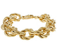 Arte d Oro 7-1/4 Bold Oval Link Bracelet, 18K, 19.50g - J300629