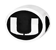Sterling Silver University of Miami Bead - J300729