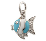Mixers Sterling Enamel & Crystal Fish Pendant - J304729