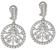 Judith Ripka Sterling 118 Facet 5.30 ct Diamonique Drop Earrings - J318129