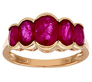 2.20 ct tw Ruby 5-Stone Design Ring 14K Gold - J319129