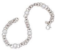 Diamonique 2.50 cttw 7-1/4 Line Bracelet, Sterling - J321129