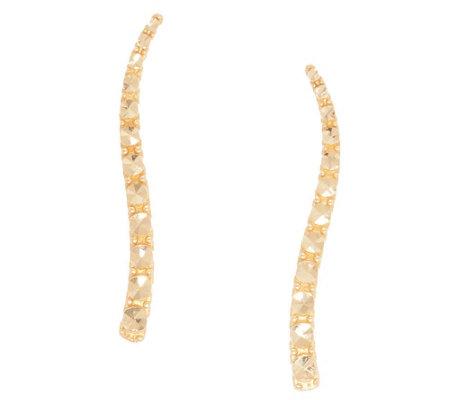 14k Gold Diamond Cut Ear Climber Earrings Qvc Com