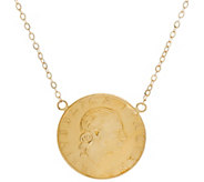 Vicenza Gold 200 Lire Coin Necklace 14K Gold - J324729
