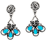 Carolyn Pollack Sterling Silver Sleeping Beauty Turquoise Earring Jackets - J325529