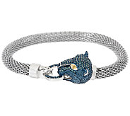 Panther Diamond Steel Bracelet, Sterling, 1/2 cttw, by Affinity - J326329