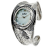 Sterling Silver Cuff Watch by Or Paz, 48.0g - J326629
