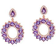 As Is Graziela Gems Multi-Gemstone Sterling/18K Earrings, 10ct - J328329