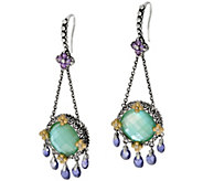 Barbara Bixby Sterling & 18K Mother of Pearl Triplet & Iolite Earrings - J329129