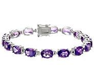Semi-Precious Gemstone Sterling 6-3/4 Tennis Bracelet 16.00 cttw - J329429