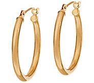 As Is EternaGold Polished 3/4 Tube Hoop Earrings, 14K - J333029