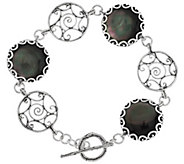 As Is Or Paz Sterling Mother of Pearl Doublet Toggle Bracelet - J333729