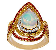 As Is Graziela Gems Ethiopian Opal & Sapphire Ring 14K,1.60 cttw - J334229