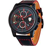 Ferrari Mens Black LEather Strap Formula Italias Watch - J334329