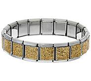 As Is Stainless Steel Stretch Glitter Bracelet - J334529