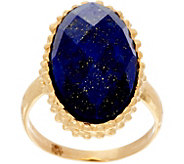 Italian Gold Oval Gemstone Ring 14K Gold - J334729