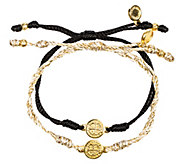 My Saint My Hero Breathe Blessing GoldtoneBracelet Set - J339229