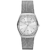 Skagen Womens Stainless Steel Crystal AccentedWatch - J339329