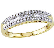 Baguette & Round Diamond Ring, 14K Yellow Gold,by Affinity - J340829
