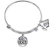 Extraordinary Life Sterling Teacher AdjustableBangle - J341229