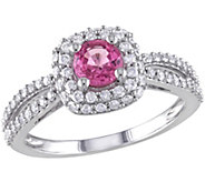 Pink Sapphire & Diamond Ring, 14K White Gold,by Affinity - J341629