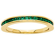 Channel Set Gemstone Band Ring, 14K Yellow Gold - J342229