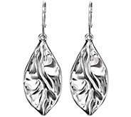 Hagit Sterling Dangle Earrings, Folds Collection - J342729