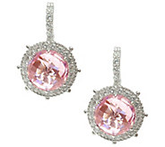 Judith Ripka Sterling & Choice of Color Diamonique Earrings - J343029
