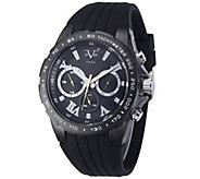 V19.69 Italia Mens Black Watch with Black Rubber Strap - J343929