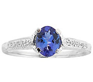 14K White Gold 0.75 ct Tanzanite & Diamond Accent Ring - J344229