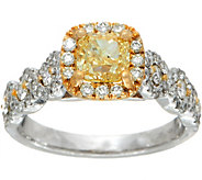 Yellow and White Diamond Ring, 14K, 1.65 cttw, by Affinity - J348129