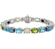 Judith Ripka Sterling 6-3/4 15.50 cttw Multi Gemstone Tennis Bracelet - J350329
