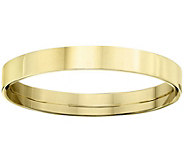 Mens 14K Yellow Gold 3mm Flat Comfort Fit Wedding Band - J375229
