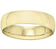 Womens 14K Yellow Gold 6mm Half Round WeddingBand - J375429