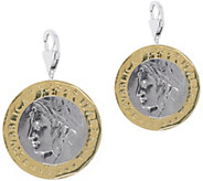 Vicenza Silver Sterling Set of 2 1000-Lire CoinCharms - J375629
