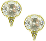 Judith Ripka 14K Clad and Diamonique Earrings - J376229