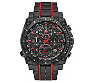 Bulova Mens Precisionist Black Chronograph Watch - J383829