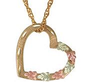 Black Hills Floating Heart Pendant w/ Chain, 10K/12K Gold - J383929