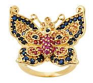 Smithsonian Paula Crevoshay 1.50 ct tw Multi-gemstone Butterfly Ring - J260130