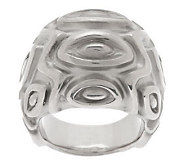 VicenzaSilver Sterling Bold Satin Marquise Pattern Domed Ring - J285730