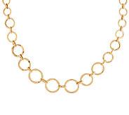 14K Gold 18 Graduated Circle Link Design Necklace, 6.2g - J289330