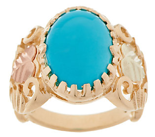 Product image of Black Hills Gold Sleeping Beauty Turquoise Ring, 10K/12K